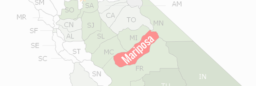 Mariposa County Map