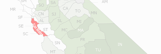 San Mateo County Map