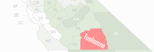 Tuolumne County Map
